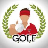 avatar van de golfclubgolfspeler vector illustratie