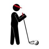 Avatar van de golfspeler pictogram vector illustratie
