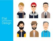 Avatar van de mensenillustratie Vectorreeks Royalty-vrije Stock Fotografie