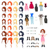 Avatar van een vrouw Royalty-vrije Stock Afbeelding