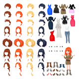 Avatar van een vrouw Stock Foto's