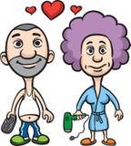 Avatar van het beeldverhaal de echtgenoot en de vrouw van het liefdepaar Royalty-vrije Stock Fotografie