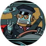 Avatar van het de hommelpop-art van de bestuurdersrobot karakterpictogram vector illustratie