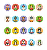 Avatar Vector Icons 5 Royalty Free Stock Photos
