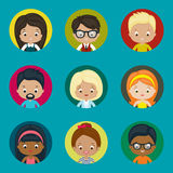 Avatar vector icons set for website. Stock Photo