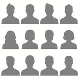 Avatar, vector people icon, user faces Royalty Free Stock Photography