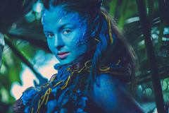Avatar vrouw stock foto