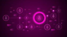 avatar wetenschapperpictogram Van geplaatst Avatars stock illustratie