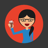 Avatar of woman Stock Image