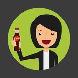 Avatar of woman Royalty Free Stock Photography