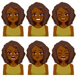Avatar Woman Expressions Royalty Free Stock Photos