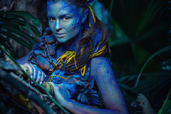 Avatar Woman In A Forest Stock Image