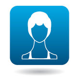 Avatar woman with short hair icon, simple style Royalty Free Stock Photos