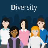 Avatar women design. Avatar women of diversity people and multiracial theme Vector illustration royalty free illustration