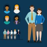 Avatar women and men design. Avatar women and men of diversity people and multiracial theme Vector illustration royalty free illustration