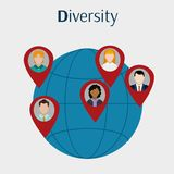Avatar women and men design. Avatar women and men of diversity people and multiracial theme Vector illustration Royalty Free Stock Photo