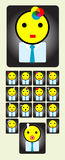 Avatar workers icon set Stock Image