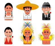 Avatar world people icons Royalty Free Stock Photos