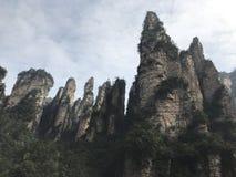 Avatar Zhangjiajie gór parkowa natura Zdjęcia Stock