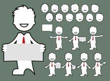 Avatara - Charaktergeschäftshaltungen Stockbilder