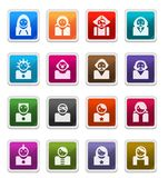 Avatara-Ikonen 2 - Aufkleberserie Stockbilder