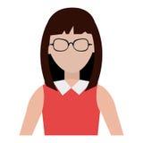 Avataraffärskvinna, vektordiagram Arkivfoton
