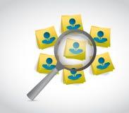 Avataraleute auf Beitragsmitteilung in Überprüfung Lizenzfreie Stockbilder