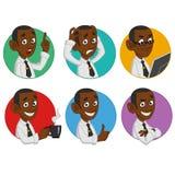 Avataras des Büroangestellten Stockfotografie