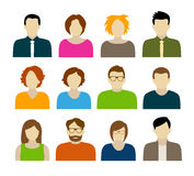 Avatares - caracteres Imagen de archivo libre de regalías