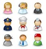 Avatares como diversas profesiones Imágenes de archivo libres de regalías