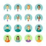 Avatares de doctores y de pacientes para el foro médico Imágenes de archivo libres de regalías