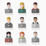 Avatares de la gente en estilo plano Fotografía de archivo
