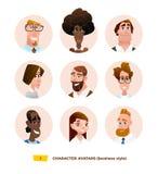 Avatares de los caracteres en estilo plano de la historieta libre illustration