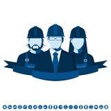 Avatares de los empleados del servicio técnico Imágenes de archivo libres de regalías