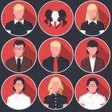 Avatares de los iconos de los hombres y de las mujeres de negocios Imagen de archivo