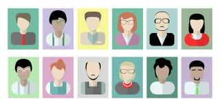Avatares de los oficinistas en blanco Fotografía de archivo libre de regalías