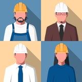 Avatares de los trabajadores de construcción Imagenes de archivo