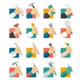 Avatares de los trabajos ilustración del vector