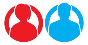 Iconos hembra-varón del avatar del vector Foto de archivo libre de regalías