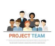 Avatares del equipo de proyecto stock de ilustración