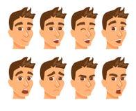 Avatares del hombre con la expresión ilustración del vector