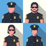 Avatares del oficial de policía Foto de archivo libre de regalías