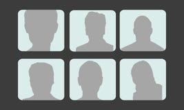Avatares del perfil del vector Imagen de archivo libre de regalías