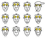 Avatares del personaje de dibujos animados Fotos de archivo libres de regalías
