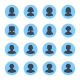 Avatares en blanco de la gente - Dot Version Imagen de archivo libre de regalías