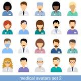 Avatares médicos Imagen de archivo