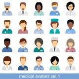 Avatares médicos Imágenes de archivo libres de regalías