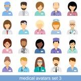 Avatares médicos Fotografía de archivo libre de regalías