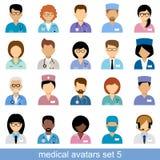 Avatares médicos Foto de archivo libre de regalías