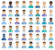 Avatares médicos del ` s de los hombres Fotos de archivo